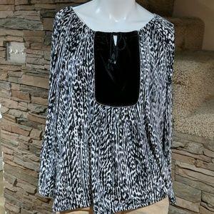 4/$25  Rafaella blouse size XL p nwt